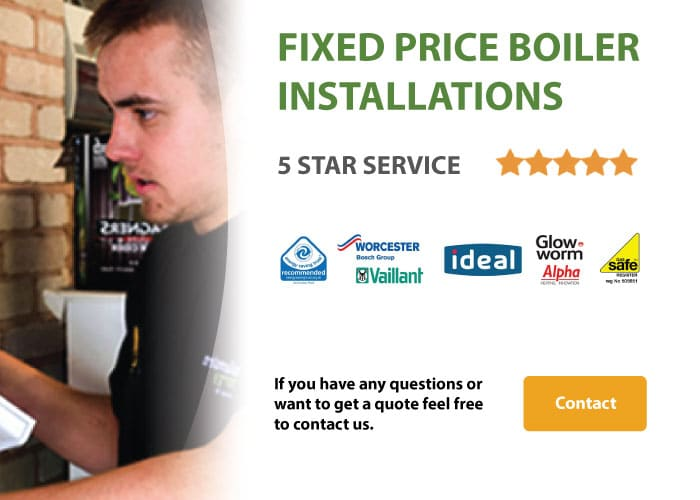 fixed price boiler installations